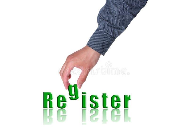 Registerkonzept stockfoto