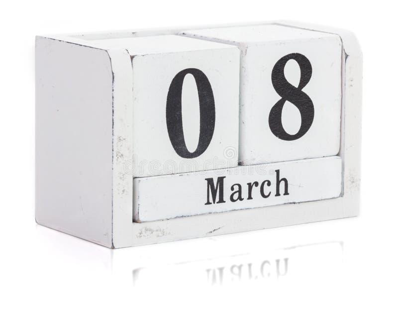 Registi di legno, donne ` s il giorno 8 marzo, isolato immagine stock libera da diritti