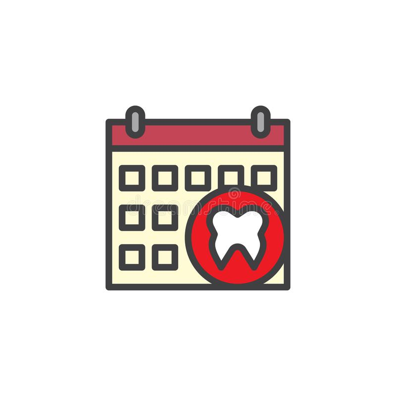 Registi l'appuntamento con l'icona del profilo riempita dente dentario illustrazione di stock