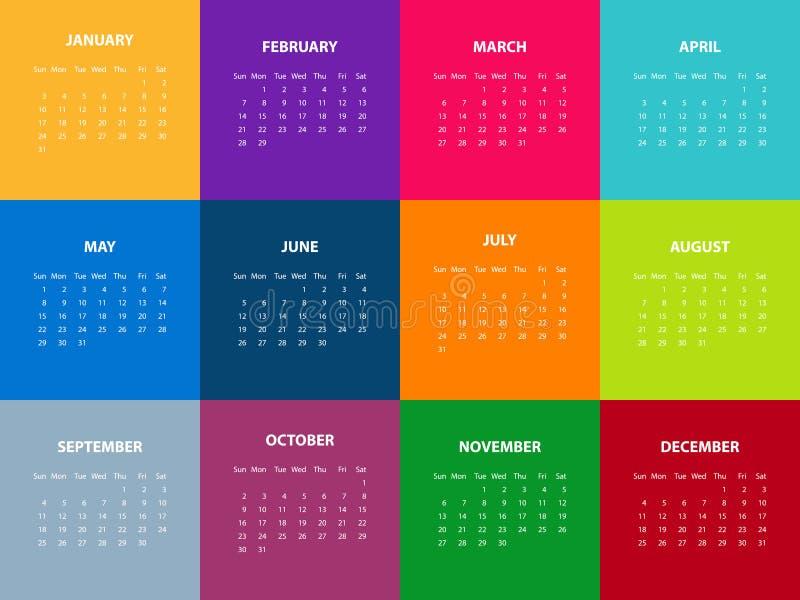 Registi per l'anno 2016 Illustrazione di vettore illustrazione di stock