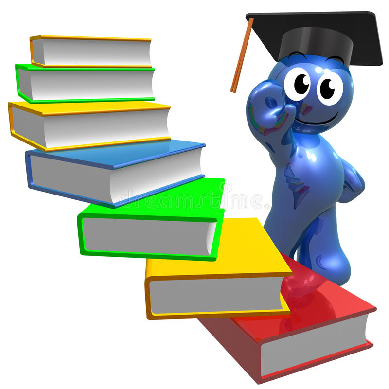 Registra stairways ao conhecimento ilustração do vetor