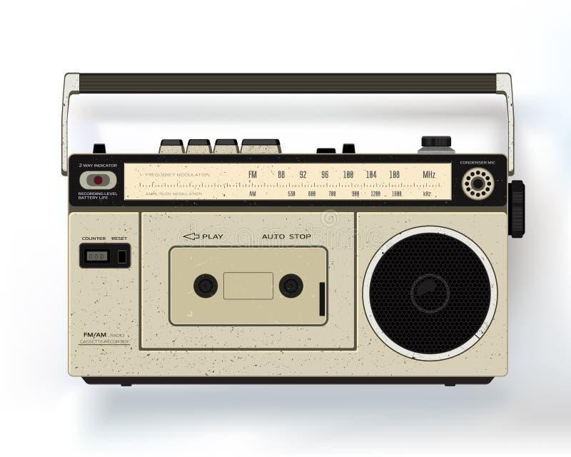 Registrador audio retro da gaveta Jogador de música realístico ilustração royalty free