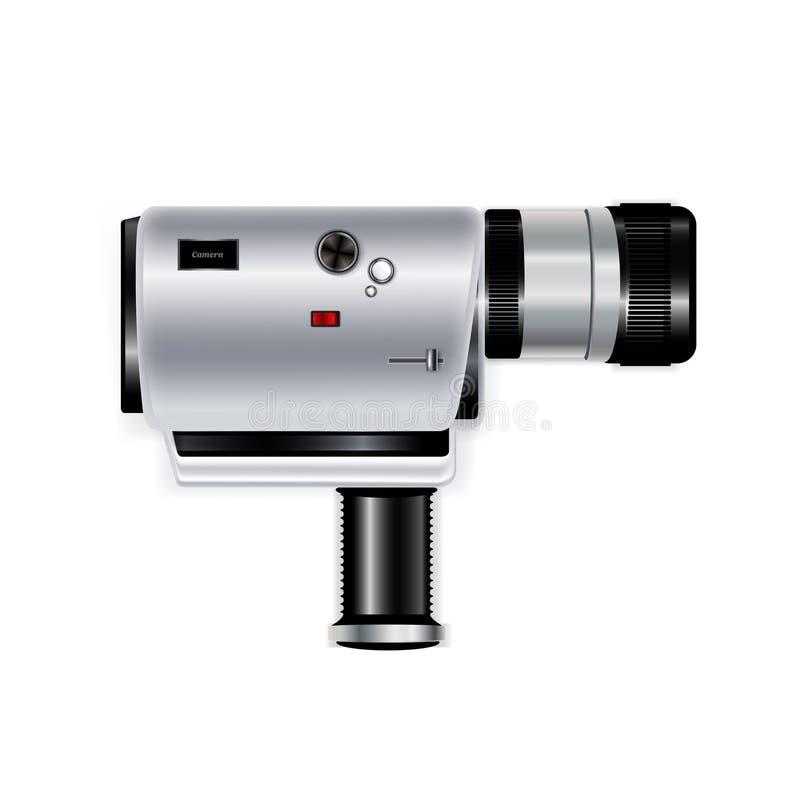 Registrador da câmera isolado no branco ilustração do vetor