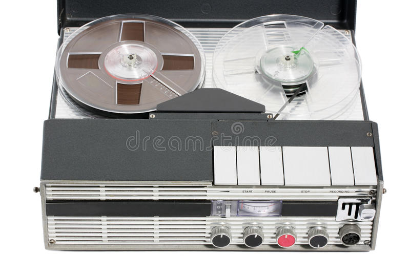 Registrador de cinta portable de la vendimia retra imagenes de archivo