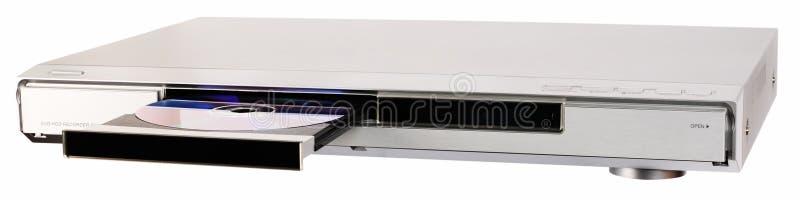Registrador de DVD con la bandeja abierta fotos de archivo libres de regalías