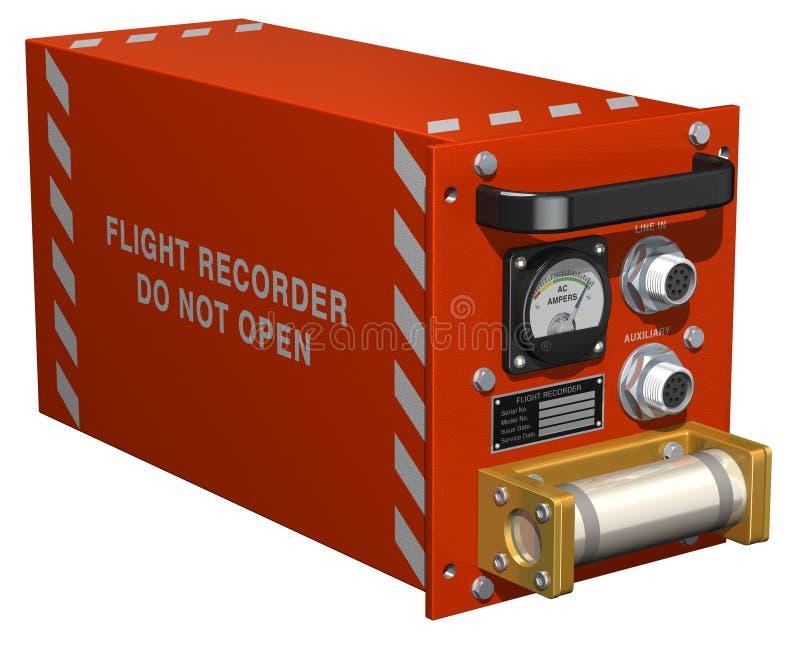 Registrador de vuelo ilustración del vector