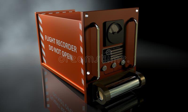 Registrador de vuelo foto de archivo