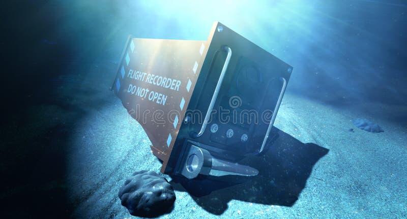 Registrador de vuelo debajo del mar imagen de archivo