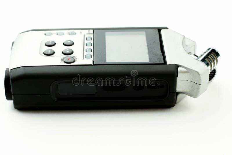 Registrador práctico aislado en el fondo blanco fotografía de archivo