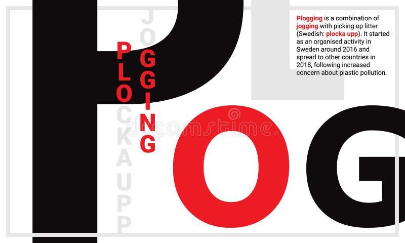 registrare le origini che pareggiano e il upp di plocka con la lettera maiuscola nera P royalty illustrazione gratis
