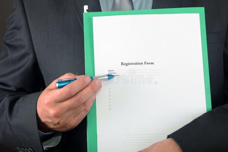 Download Registration stock image. Image of businessman, form - 16750685