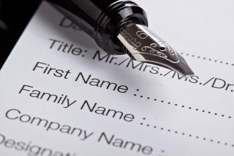 Registration form royalty free stock images