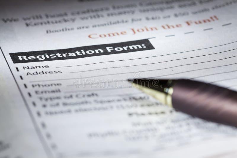 Download Registration form stock photo. Image of form, data, newspaper - 27985478