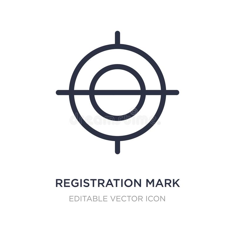 registration mark icon on white background. Simple element illustration from Edit tools concept vector illustration