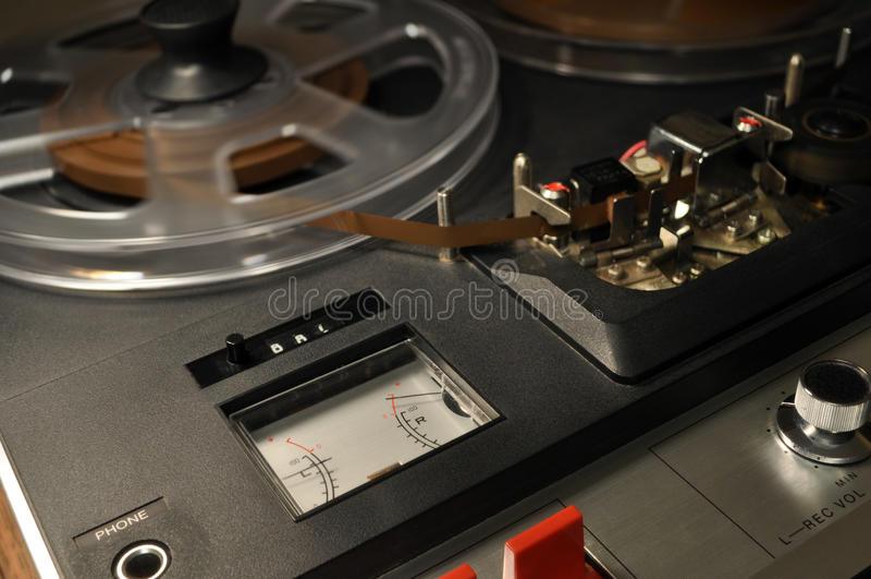 Registratore bobina a bobina dell'annata immagini stock
