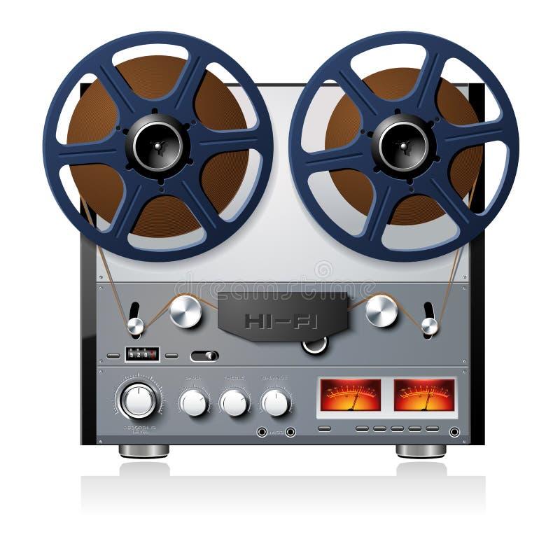 Registratore bobina a bobina stereo del giocatore della piastra di registrazione royalty illustrazione gratis