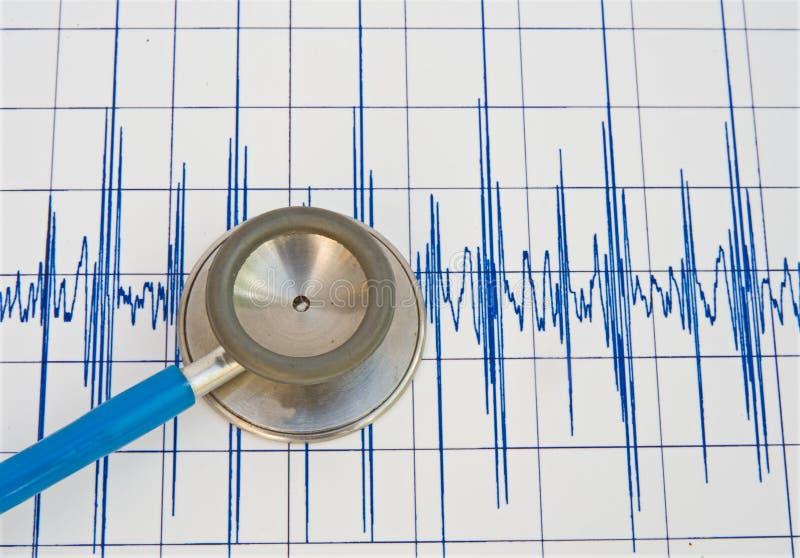 Registrazione di battimento di cuore. illustrazione vettoriale