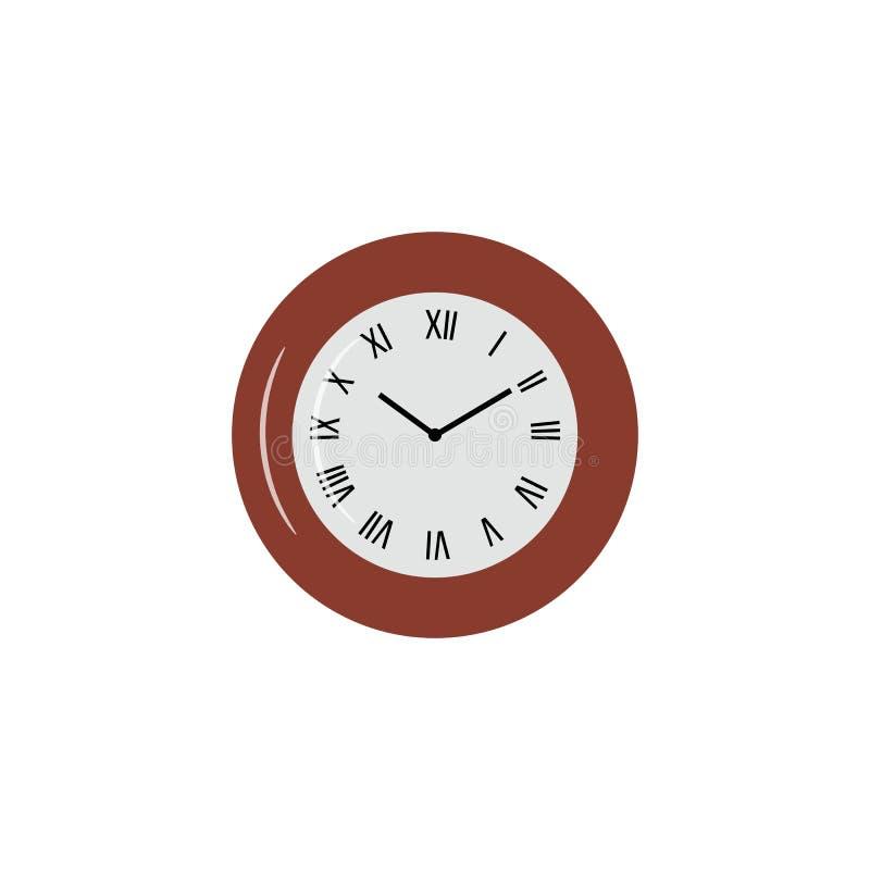 Registre el icono en estilo plano de moda aislado en fondo Símbolo para su logotipo del icono del reloj del diseño del sitio web, ilustración del vector
