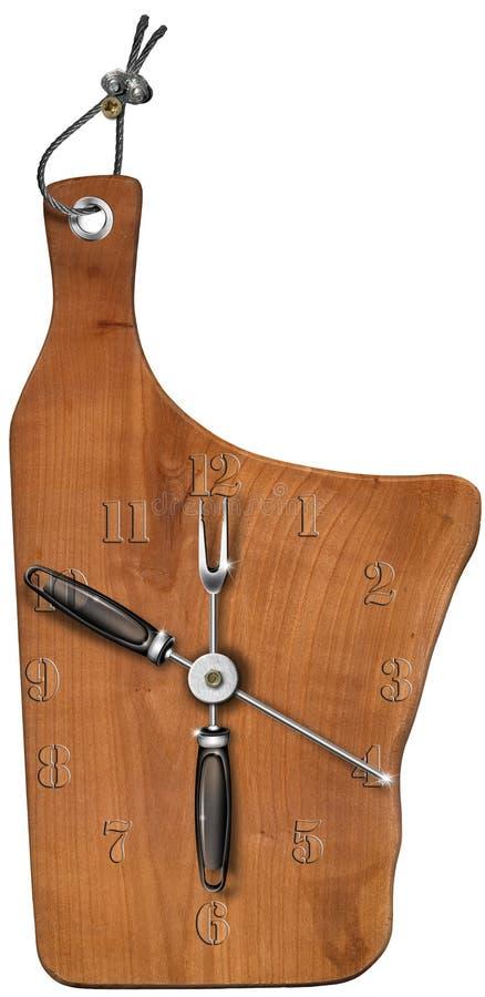 Registre a la tarjeta de corte de madera stock de ilustración