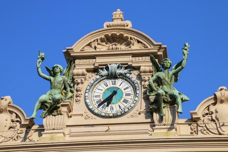 Registre sobre la entrada principal de Monte Carlo Casino en Mónaco fotos de archivo libres de regalías