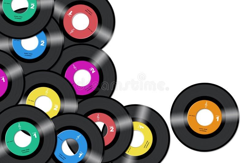 registrerar vinyl royaltyfri illustrationer
