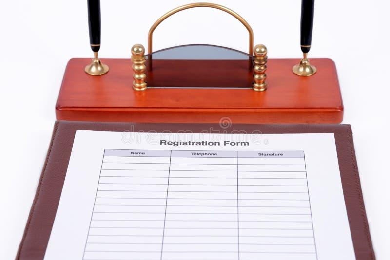 Registreringsform arkivbilder