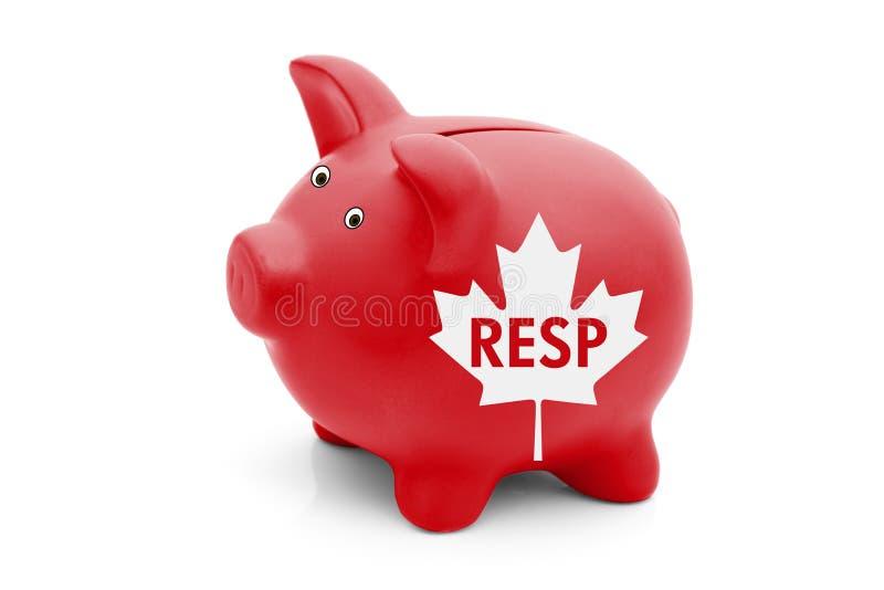 Registreringsutbildningsbesparingplan i Kanada royaltyfria foton