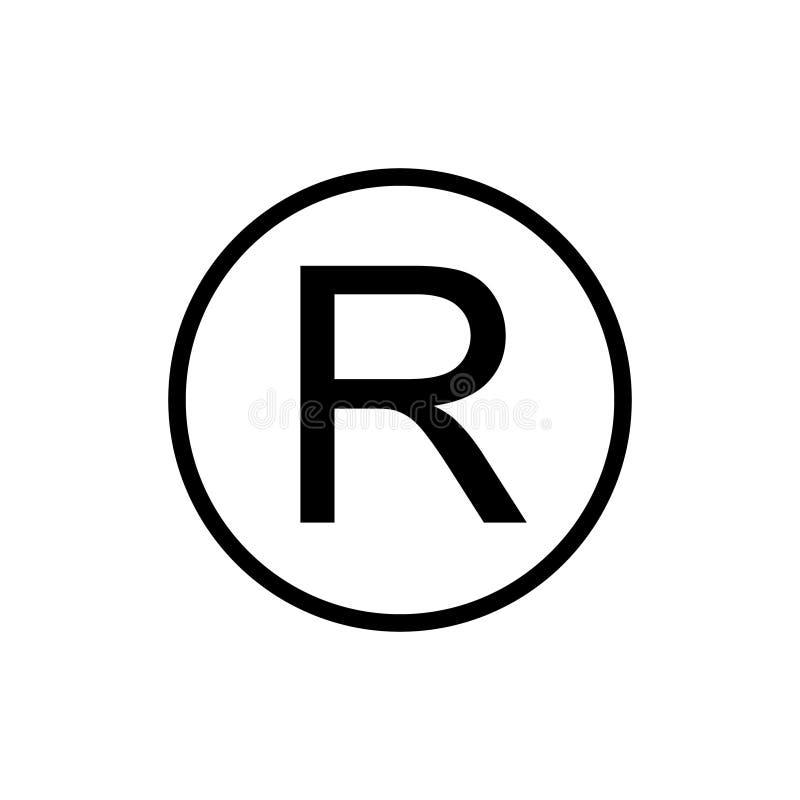 Registreringsvarumärkestecken stock illustrationer