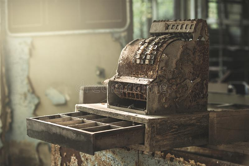 Registrierkasse in Pripyat stockfotos