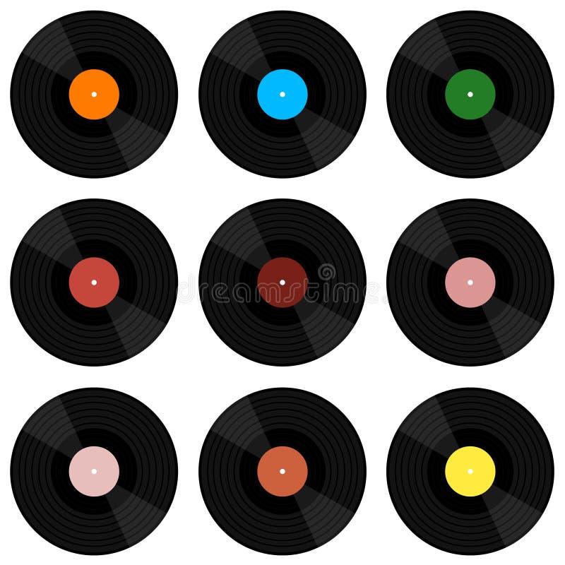 Registro da música do vinil Ilustração do vetor de um registro de vinil Disco retro do vinil ilustração stock