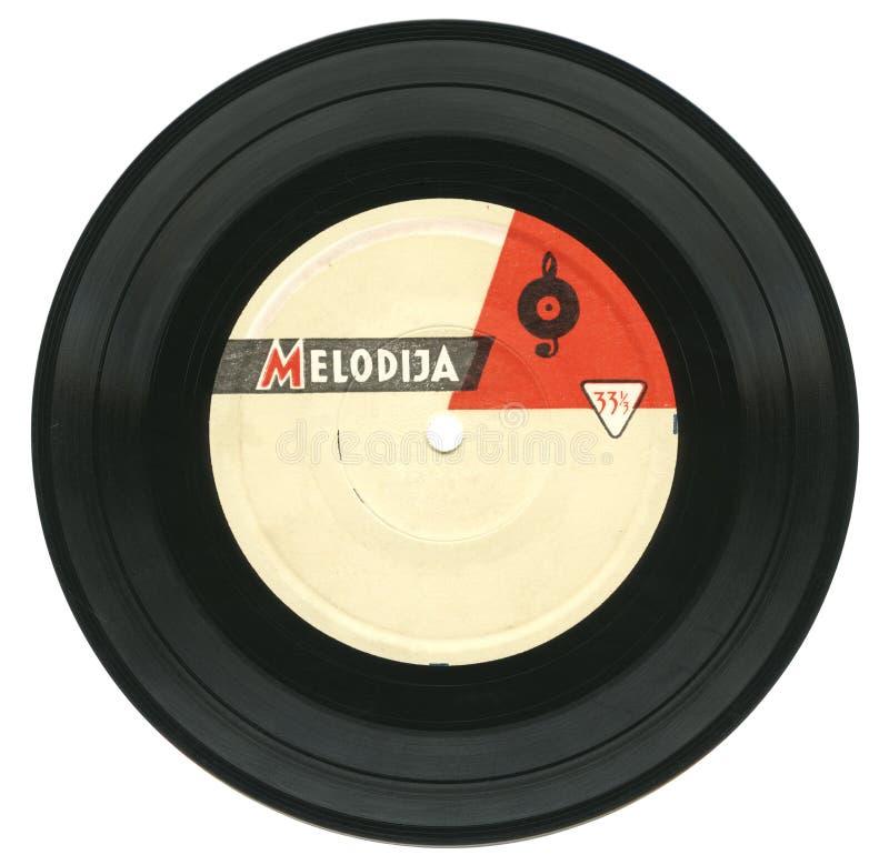 Registro de gramofone do vintage foto de stock royalty free