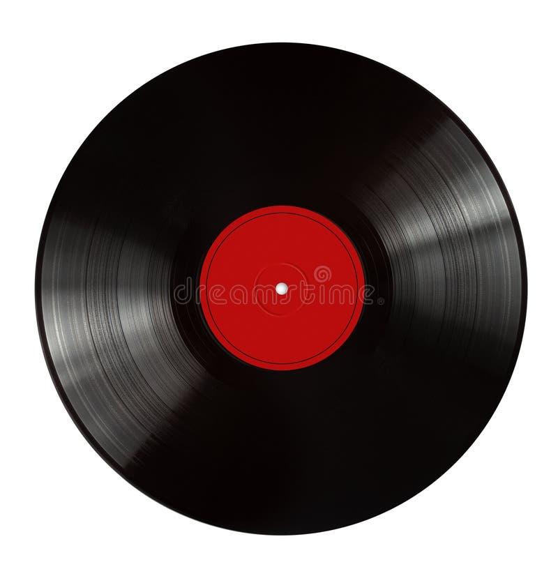 Registro de gramofone preto 2 imagem de stock