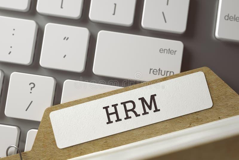 Registro de la carpeta con la inscripción HRM 3d fotos de archivo
