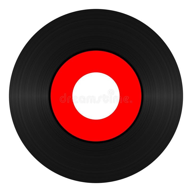 Registro de vinil 45 RPM ilustração do vetor