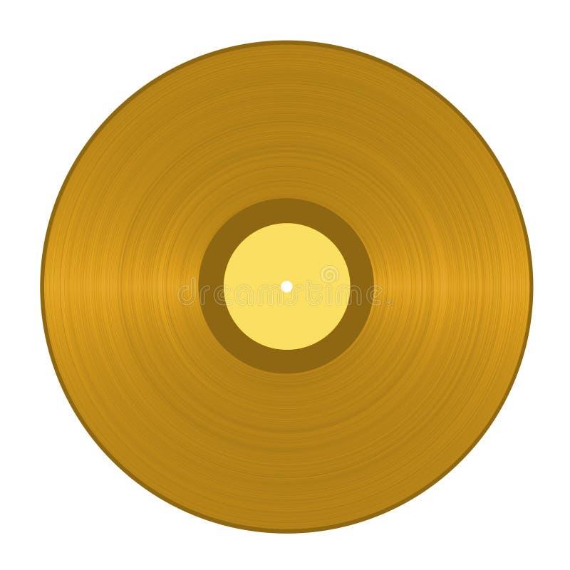 Registro de vinil dourado ilustração royalty free