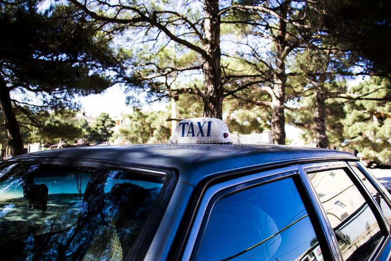 Registro do táxi fotografia de stock royalty free