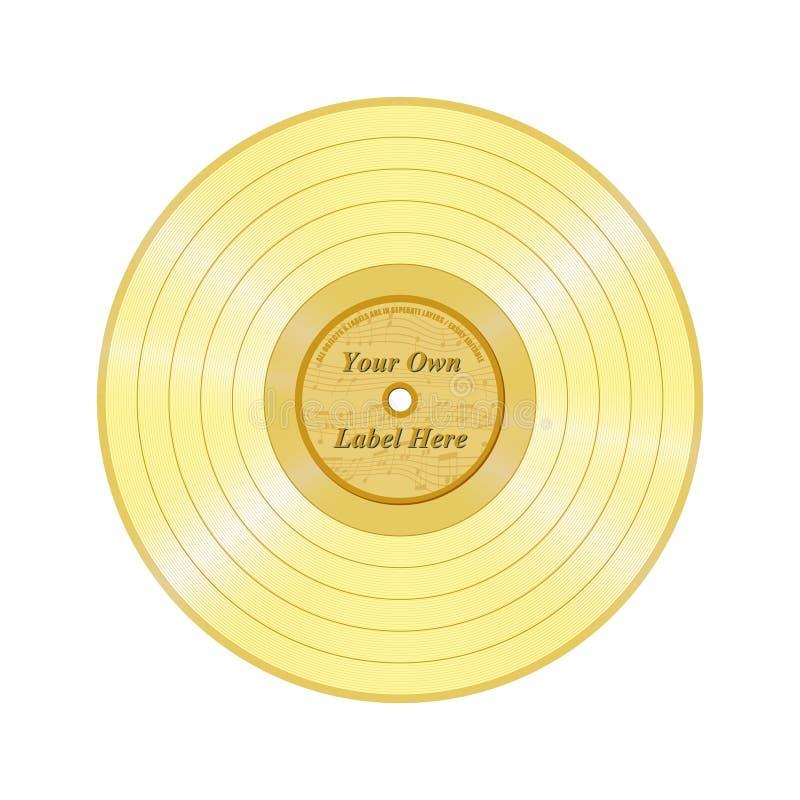 Registro dourado ilustração stock