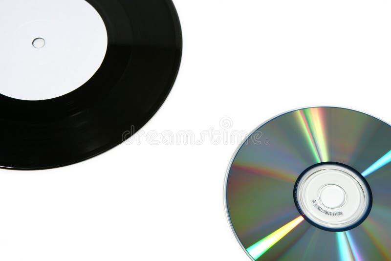 Registro e CD de vinil (próximos) foto de stock