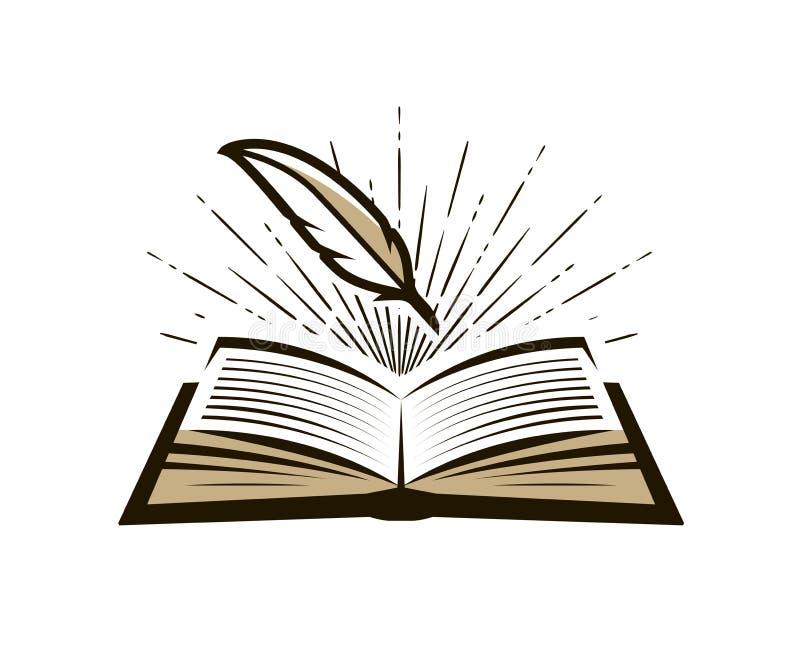 Registro, logotipo do registro ou etiqueta Diário, ícone da nota Ilustração do vetor ilustração stock