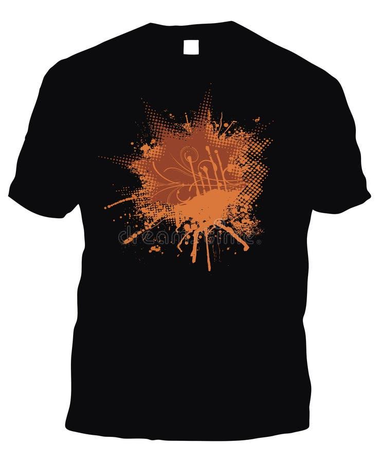Registro negro de la pizca de la camiseta