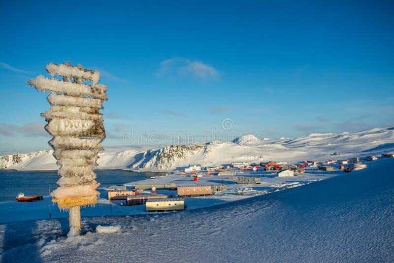 Registro no Antarctic fotografia de stock