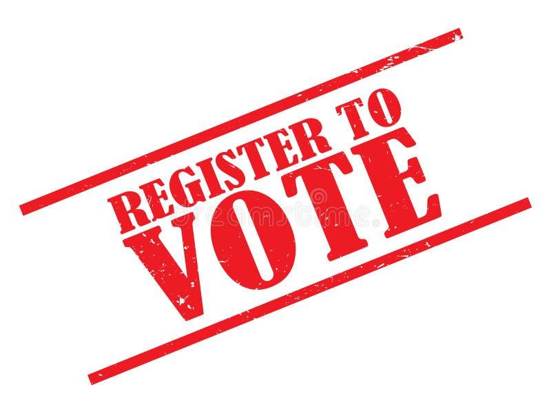 Registro para votar o selo ilustração do vetor