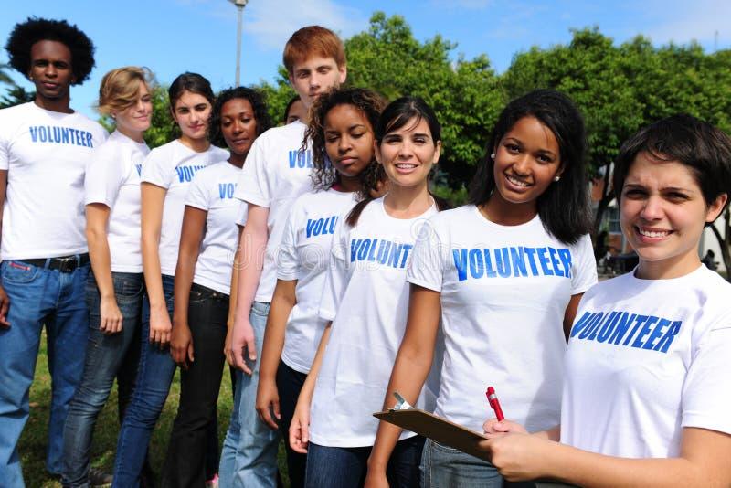 Registro voluntario del grupo para el acontecimiento foto de archivo libre de regalías