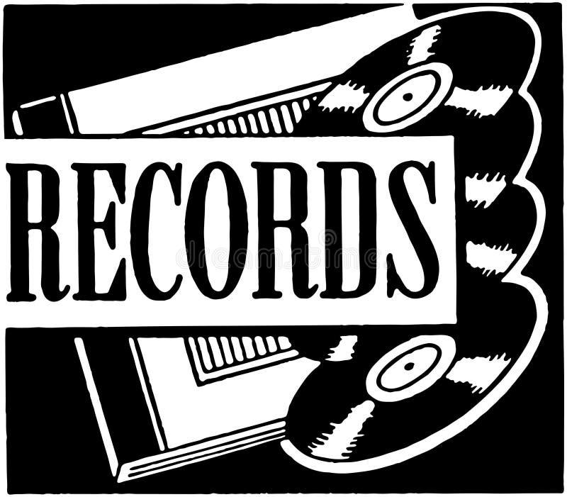 registros ilustração do vetor