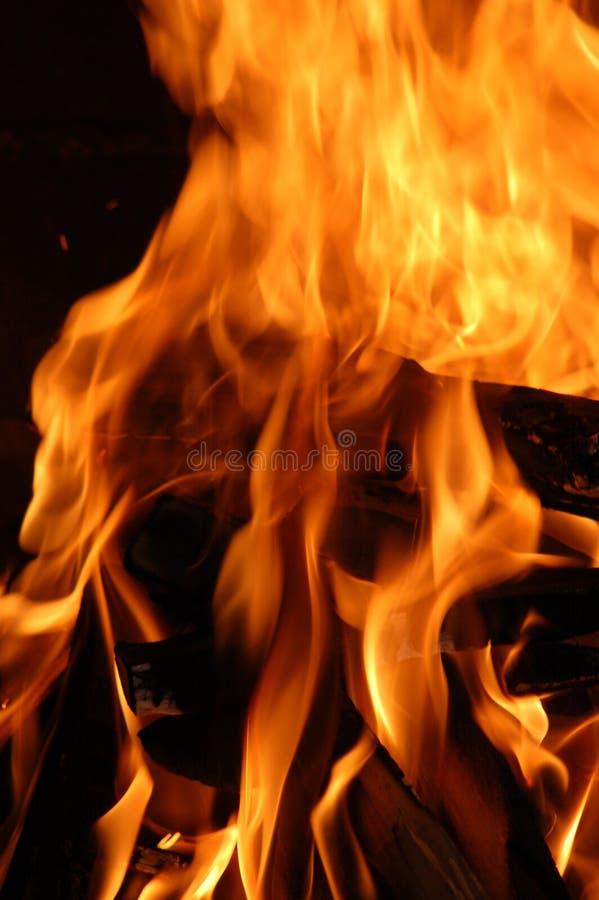 Registros ardientes imagen de archivo
