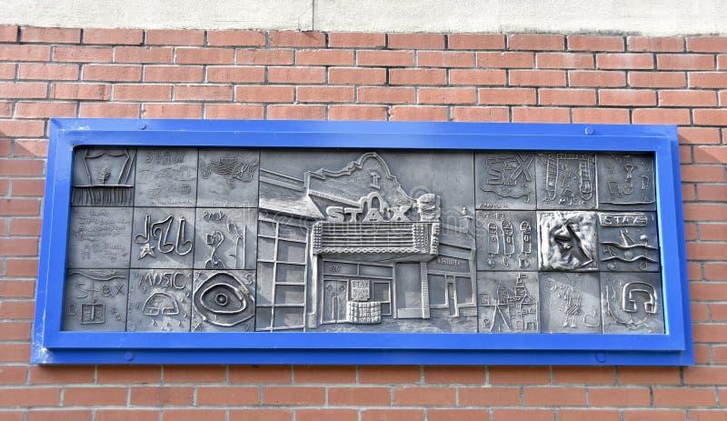 Registros Art Plate de Stax em Gaston Park Library, Memphis, TN foto de stock royalty free