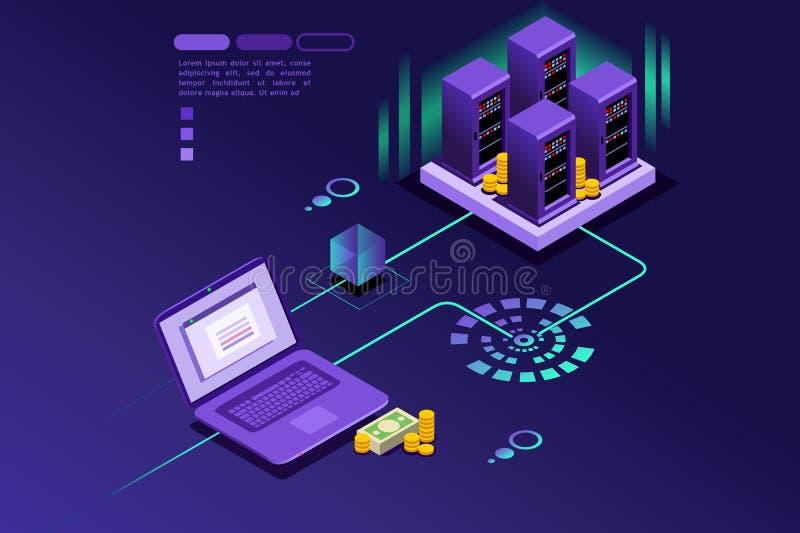 Registros da transação do cliente do Internet ilustração stock