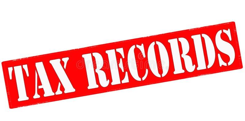 Registros de imposto ilustração royalty free
