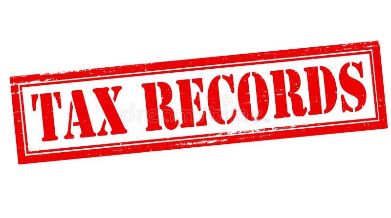 Registros de imposto ilustração do vetor