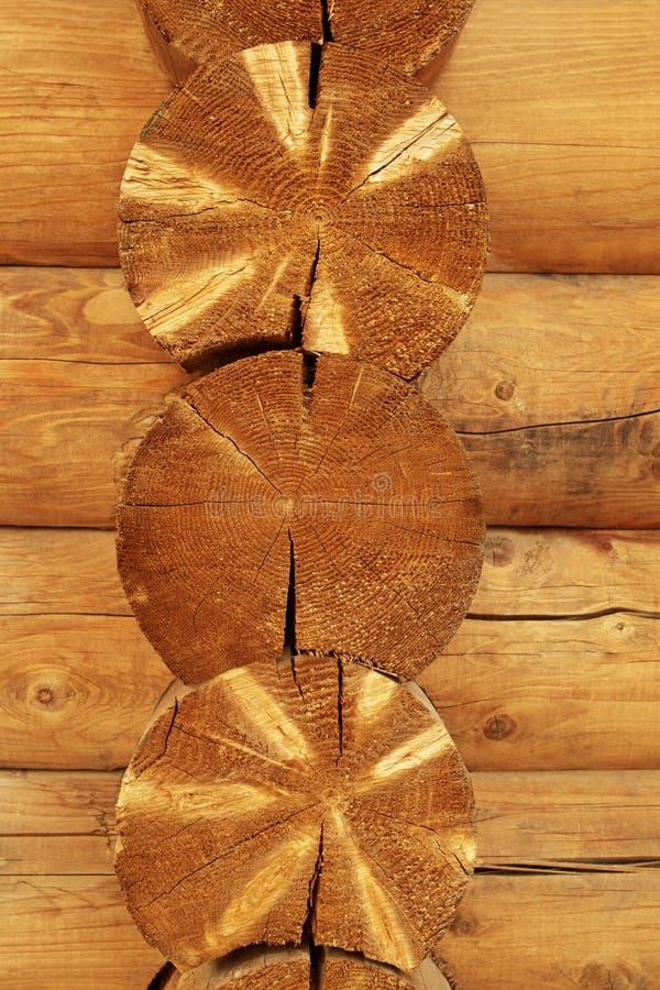 Registros de madeira imagens de stock